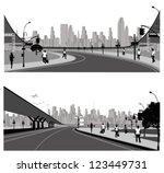 vector illustration.highway ... | Shutterstock .eps vector #123449731