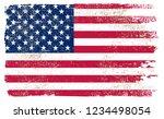 grunge flag of united states... | Shutterstock .eps vector #1234498054
