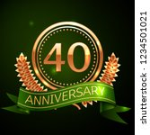realistic forty years...   Shutterstock . vector #1234501021