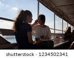istanbul   july 29  2018  two... | Shutterstock . vector #1234502341