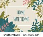 home sweet home text ...   Shutterstock .eps vector #1234507534