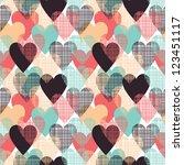 hearts seamless pattern | Shutterstock .eps vector #123451117