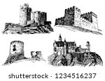 graphical set of medieval... | Shutterstock .eps vector #1234516237