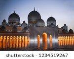 sheik zayed grand mosque in abu ... | Shutterstock . vector #1234519267