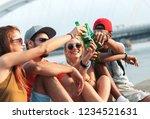 diverse group of friends... | Shutterstock . vector #1234521631