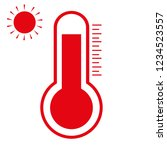 thermometer heat on white | Shutterstock .eps vector #1234523557