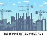 concept modern city... | Shutterstock .eps vector #1234527421
