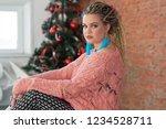 portrait young beautiful girl... | Shutterstock . vector #1234528711
