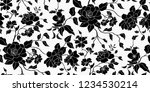 seamless floral pattern in... | Shutterstock .eps vector #1234530214