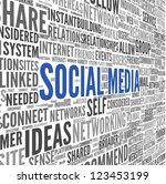 social media concept in word... | Shutterstock . vector #123453199