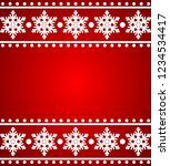 red traditional christmas frame ... | Shutterstock .eps vector #1234534417