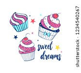 Cupcake Print Design With...