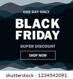 black friday. black background.  | Shutterstock . vector #1234542091