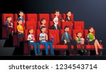 movie theater interior.... | Shutterstock .eps vector #1234543714