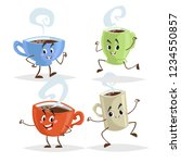 cute cartoon coffee mug and... | Shutterstock .eps vector #1234550857