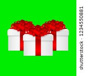 gift in a box with a red bow on ... | Shutterstock . vector #1234550881