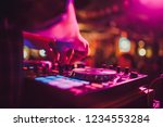 dj remote  turntables  and... | Shutterstock . vector #1234553284