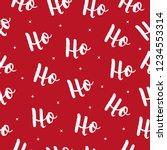 ho ho ho christmas vector...   Shutterstock .eps vector #1234553314