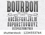 classic vintage decorative font ... | Shutterstock .eps vector #1234553764