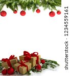 christmas decoration  four... | Shutterstock . vector #1234559161