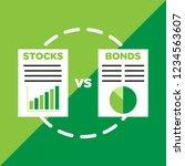 stocks versus bonds finance icon | Shutterstock .eps vector #1234563607