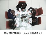 top view.business team holds... | Shutterstock . vector #1234565584