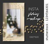 editable instagram stories... | Shutterstock .eps vector #1234566301