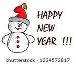 happy new year   Shutterstock .eps vector #1234572817