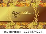 card with a golden inscription... | Shutterstock .eps vector #1234574224