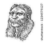primitive people. prehistoric... | Shutterstock .eps vector #1234575127