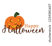 happy halloween background | Shutterstock .eps vector #1234581607