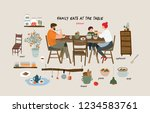 set of isolated flat vector... | Shutterstock .eps vector #1234583761
