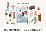 set of isolated flat vector... | Shutterstock .eps vector #1234583767