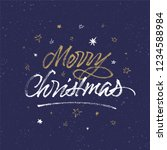 merry christmas background.... | Shutterstock .eps vector #1234588984