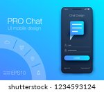 vector phone chat interface.... | Shutterstock .eps vector #1234593124