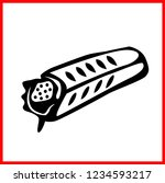 vector kebab icon isolated on...   Shutterstock .eps vector #1234593217