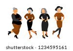 beautiful  old ladies. aged... | Shutterstock .eps vector #1234595161