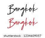 bangkok calligraphy vector quote   Shutterstock .eps vector #1234609057