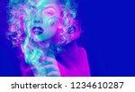 portrait of a attractive woman... | Shutterstock . vector #1234610287