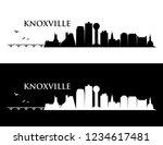 knoxville skyline   tennessee ... | Shutterstock .eps vector #1234617481