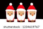 glass of santa claus  3         ... | Shutterstock . vector #1234619767