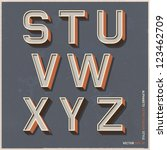 alphabet retro colour style.... | Shutterstock .eps vector #123462709