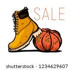 vector hand drawn trendy...   Shutterstock .eps vector #1234629607