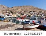 chalki  halki island    small...   Shutterstock . vector #1234631917