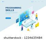 modern flat design isometric... | Shutterstock .eps vector #1234635484
