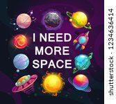 i need more space. cartoon... | Shutterstock .eps vector #1234636414
