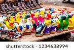 colorful bird ceramic whistles... | Shutterstock . vector #1234638994