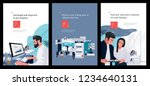 a set of business posters with... | Shutterstock .eps vector #1234640131