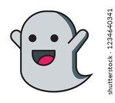 happy ghost vector emoticon ... | Shutterstock .eps vector #1234640341