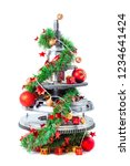 abstract christmas tree of car... | Shutterstock . vector #1234641424